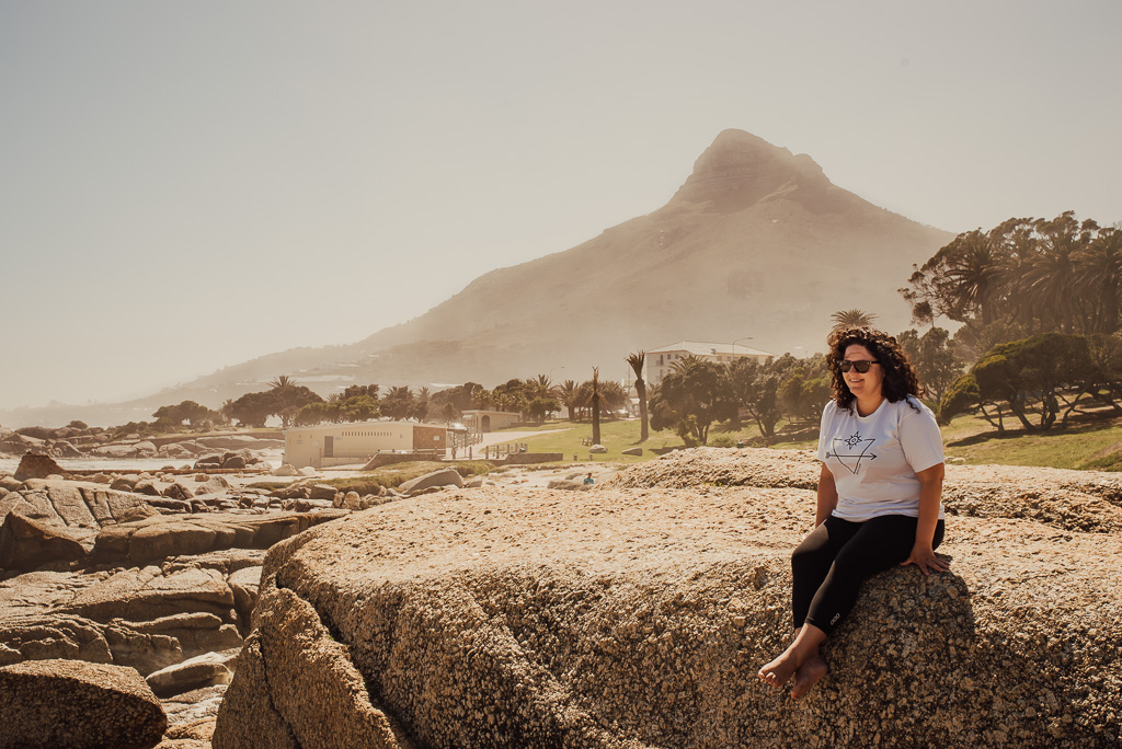 woman at Cape Town peninsula