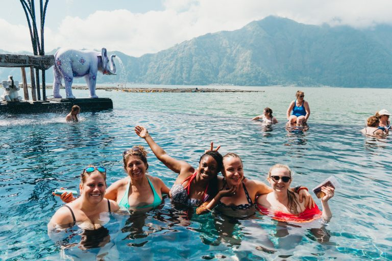 solo female travel to hot springs in bali