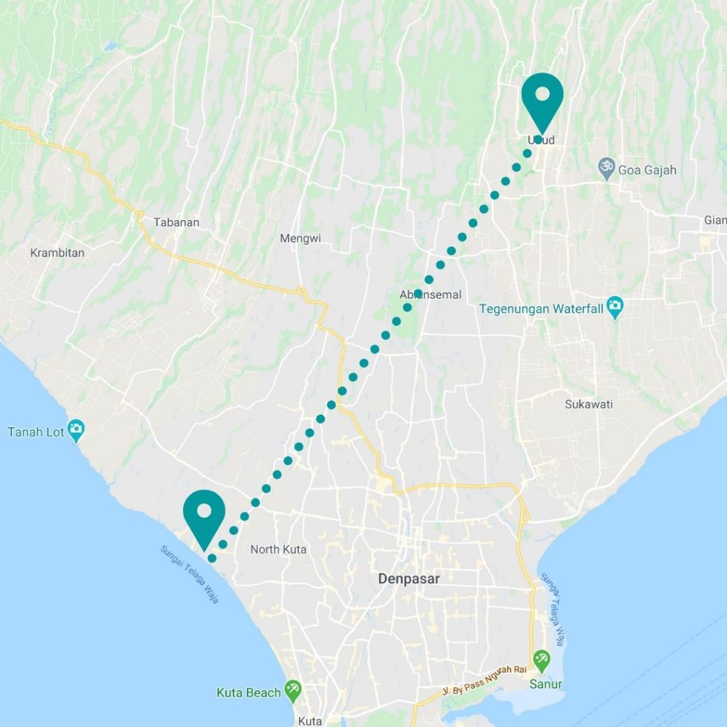 bali map for women traveling solo