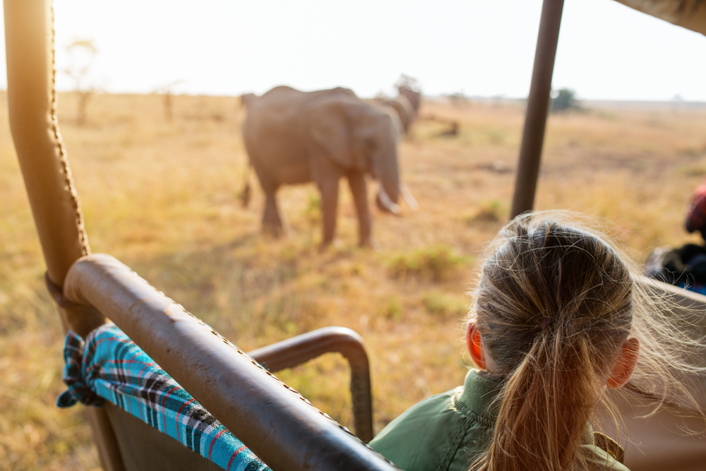 woman on safari on South Africa women only tour